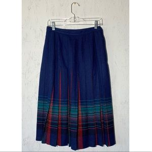 Pendleton Women's Long Pleated Skirt Size 12